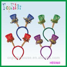 2015 Wholesale New Year Glitter Tophat Headband