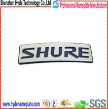 factory OEM maker electroform metal brand label logo for shure