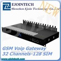 High Quality GSM Gateway 32 Port 128 sim GSM VoIP Gateway 3g wcdma 900mhz