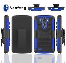 For Lg g3 mini D725, black combo hybird holster case for Lg g3 mini