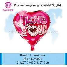 Innovative advertising heart helium balloons china