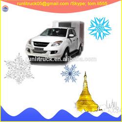 JMC pickup supplier for JMC ruihu euro4 diesel mini refrigerated van 0.5ton sale in angola