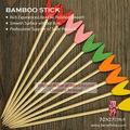 coloridas de madeira em forma de rabo de peixe de bambu descartáveis de plástico de frutas espeto