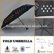 Color Changing Umbrella Fun Rain Dry Water Rainbow Colors Umbrella
