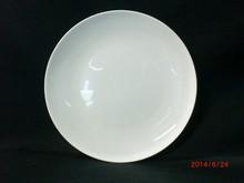 """8""""(20.2cm)Wholesale, Bulk, Cheap White Porcelain Dessert or Salad Plate, Coupe Shape"""