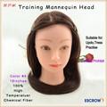 tête de mannequin en plastique bon marché cheveux humains design de la tête pour la formation de nombreuses couleurs disponibles en stock