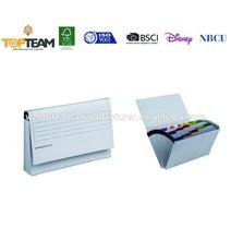 Paper Card Expanding File Folder For Office,Document Expanding File Folder Box With Pocket
