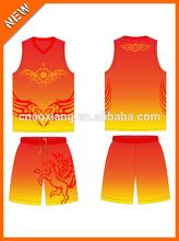 Good quality club simple fashion printed basketball jersey
