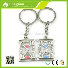 promotion custom Zinc alloy hourglass keychain