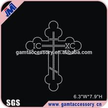 Crystal Christian faith cross rhinestone transfer wholesale