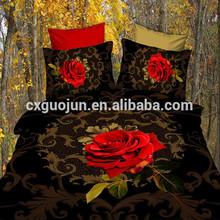 Wholesale circle design printed bedding,cheap/fashion bed sheet set 3d 100% polyester
