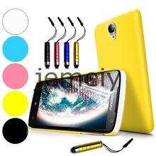 Candy Color PC Back Case Cover for Lenovo S820 with film and stylus