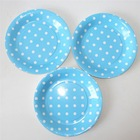 Divided paper plates in blue