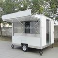 Unique estrutura móvel trailer alimentos/bebida carrinho de venda/snacks de caminhão