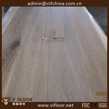 Wide Plank Engineered Watetproof Limed Oak Wood Flooring