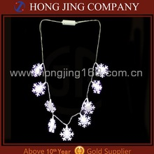 christmas decoration Led Snowflake Necklace