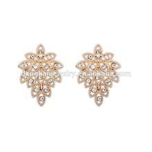 European and American fashion retro delicate leaf earrings
