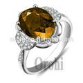 أزياء السيدات الجملة الماس الياقوت الاصفر خاتم الفضة الاسترليني تشيكوسلوفاكيا عصابة hg379 للرجال