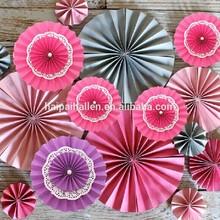 Lace Paper Doilies Paper Rosettes Pinwheel Backdrop Hanging Paper Fans Hanging Decoration