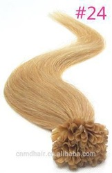honey blonde 24# european hot selling I,U,V,flat tip pre bonded hair extension