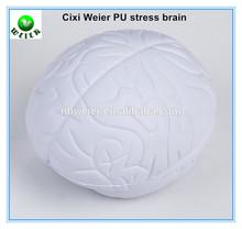 8.5x7x5.5cm PU toy brain stress ball/soft toy PU stress brain shape for kids&adults/soft gifts PU foam stress brain