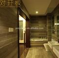 Faux mur imperméable à l'eau de douche en bois panneau d'impression