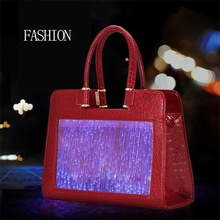 Newest Custom Design Flash Bag Luminous Bag for Evening Party Decoration,clutch lady handbag