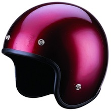 SG Approved Wine Red ABS Open Face Motorcycle Helmet FH-350
