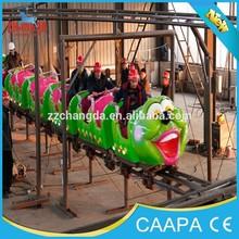 Worm Slide Rides Fruit Caterpillar, Amusement Park Track Train / Mini Roller Coaster for Kids