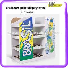 customized supermarket Wholesale promotional cardboard pallet display furniture for Lady Eva Slipper