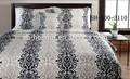 moderne noir et blanc couleur unie mince en polyester imprimé drap de lit