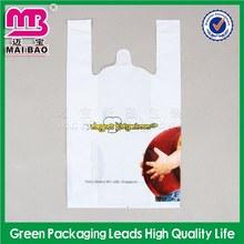 Grande capacidade de plástico baghdpe / pebd t-shirt bagdie cut saco do punho