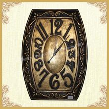 Metal antique clock wall