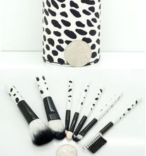 QK best design popular cosmetic brush factory accept no brand with colorful pu bag
