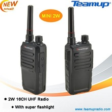 Best sale! 2W 16CH UHF small size walkie talkie