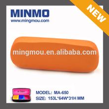 Xmas promotion Orange PU leather light weight aluminum glasses case