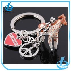 New arrival fashion unique heart shape custom key chain ring