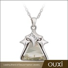 OUXI Rhodium Plated Accessories for Woman made with Swarovski Elements 10804