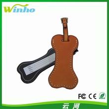 Winho lovely bone leather luggage tags name tag