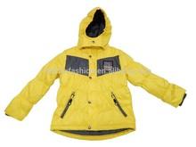 OEM children padding jacket, winter outdoor, kids hoody garment