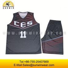 Sublimated custom camouflage basketball uniform wholesale