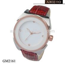 luxury design fancy quartz rose gold women leather vogue watch