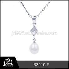 White zircon stone pendant custom name necklace pendants friendship