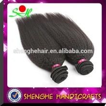 No tangle No shedding Can be dyed Brazilian yaki hair extension