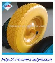 New Pattern Solid Flat free PU Foam Filled Rubber Wheelbarrow Wheel And Tyre 4.80/4.00-8
