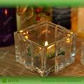 nueva llegada de envase de vidrio cuadrado para la vela