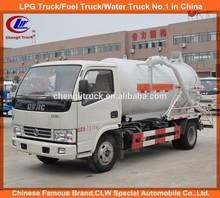 dongfeng caminhãodesucçãodeáguadeesgoto 5000 litros de lixo do caminhão coletor a vácuo 4x2 caminhãodesucçãodeáguadeesgoto