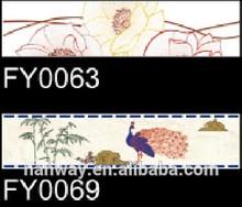 house design ceramic flower border tiles