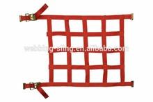 1 inch width Polyester orange color car cargo net