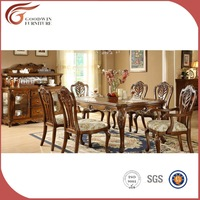 Furniture teak wood dining room set, teak wood antique dining table and chair A20